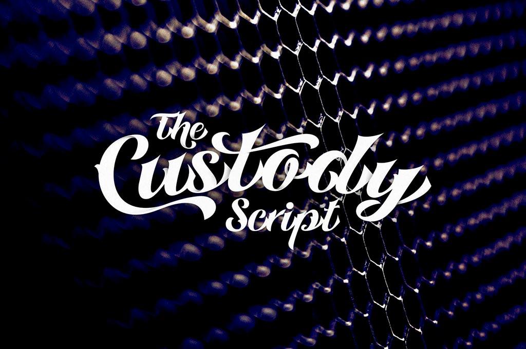 Custody Script - Tattoo Font