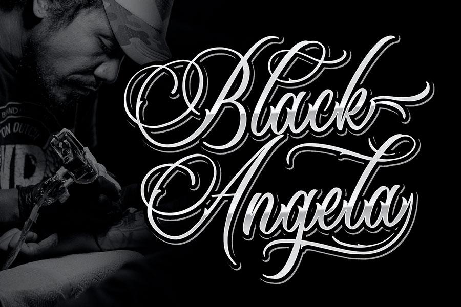 Black Angela - Tattoo Font