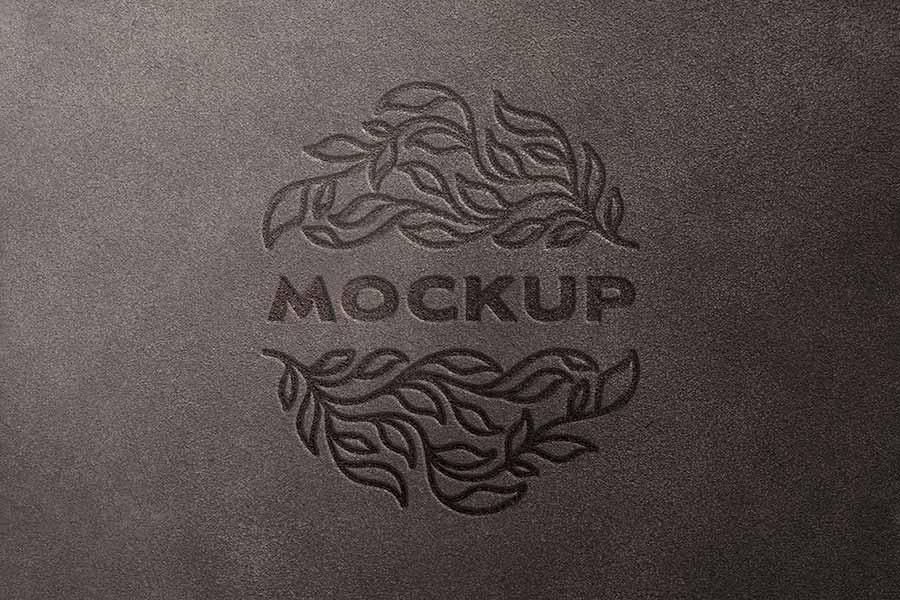 Debossed Logo Mockup
