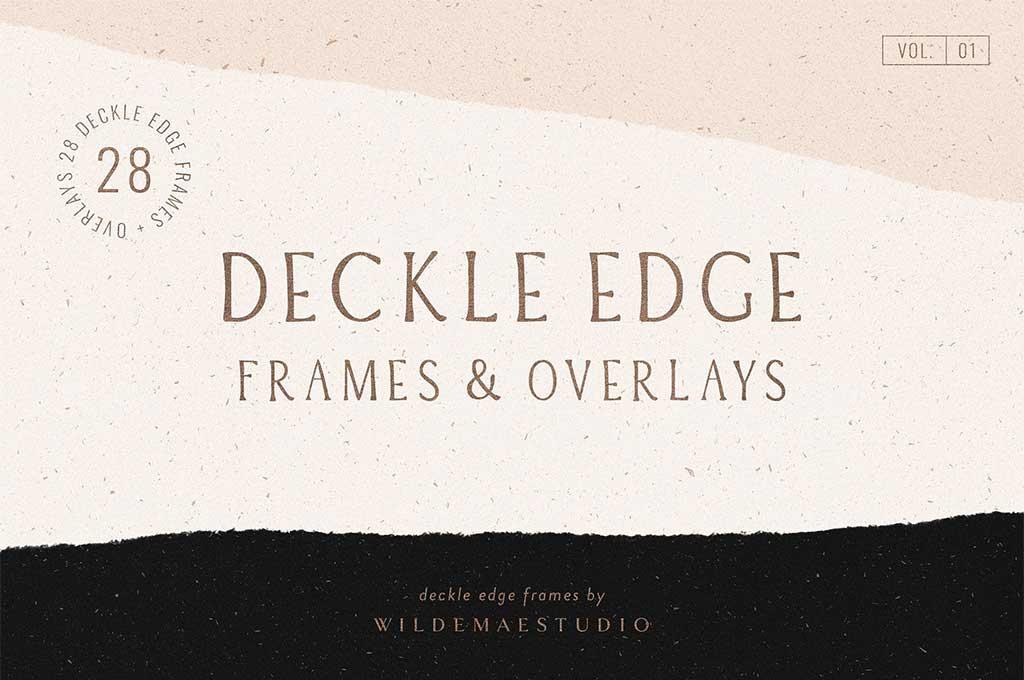 Deckle Edge Frames & Overlays Vol. I