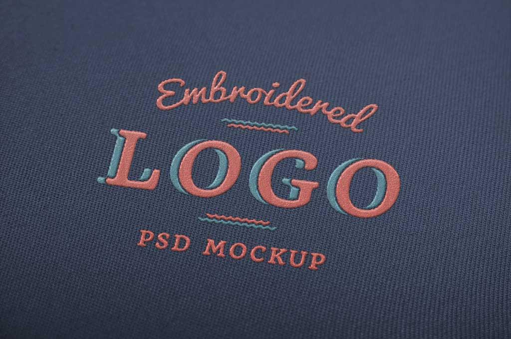 Embroidered Free Logo Mockup