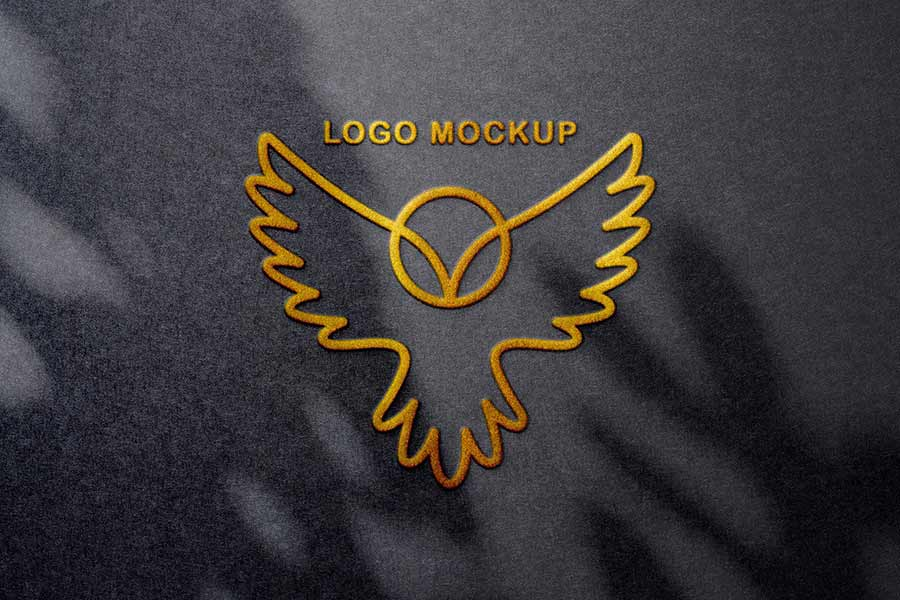 Foil Embossing Logo Mockups