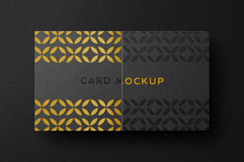 Free Deluxe Business Card Logo Mockup
