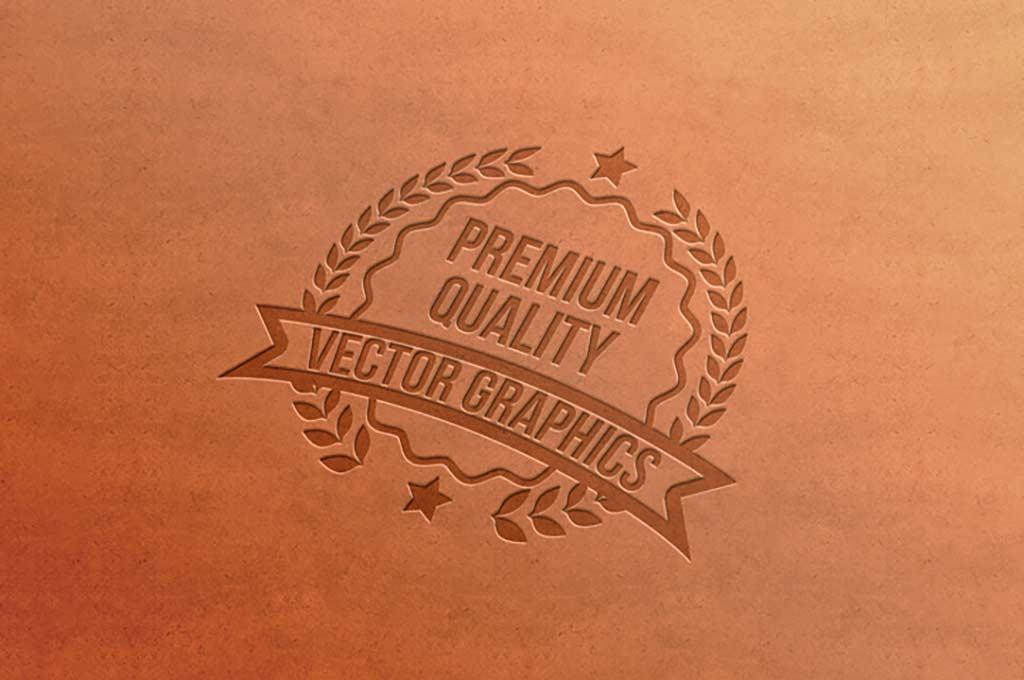 Letterpress Free Logo Mockup