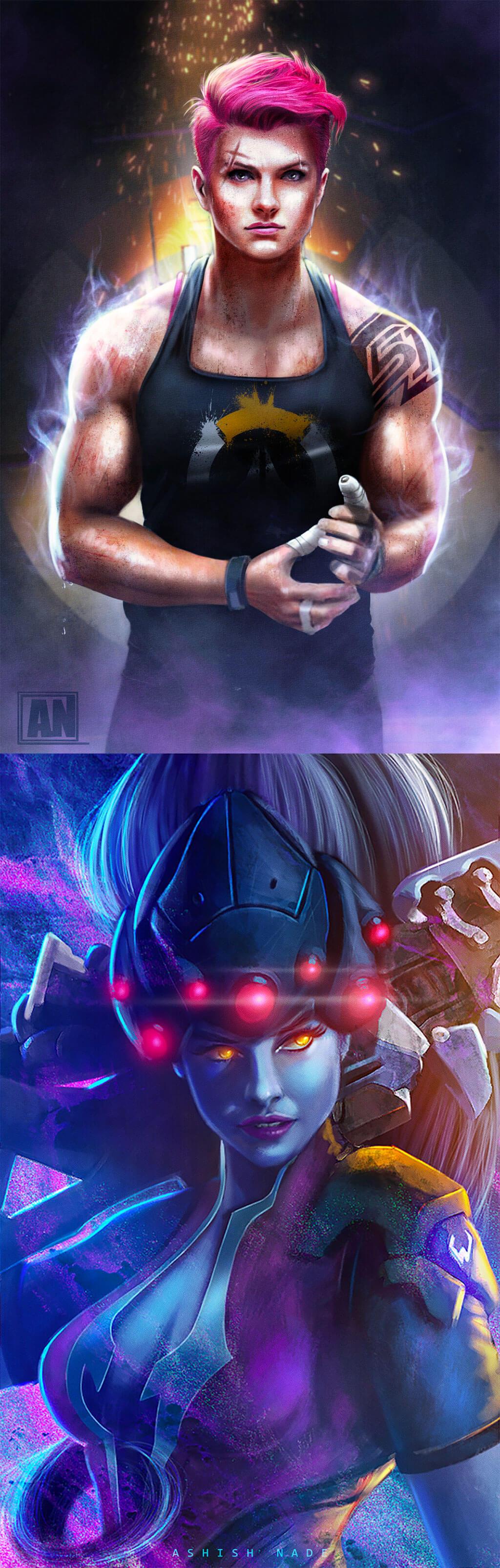 Overwatch Fan Art by Ashish Nade