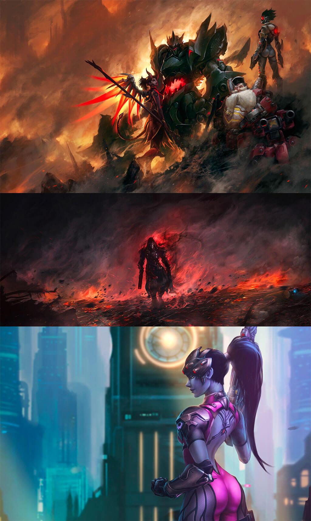 Overwatch Fan Art by Bruce Liu