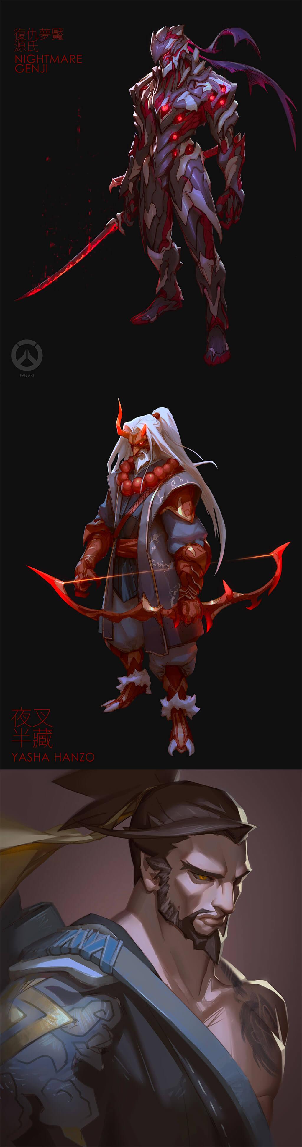 Genji Fan Art by Hui Zou