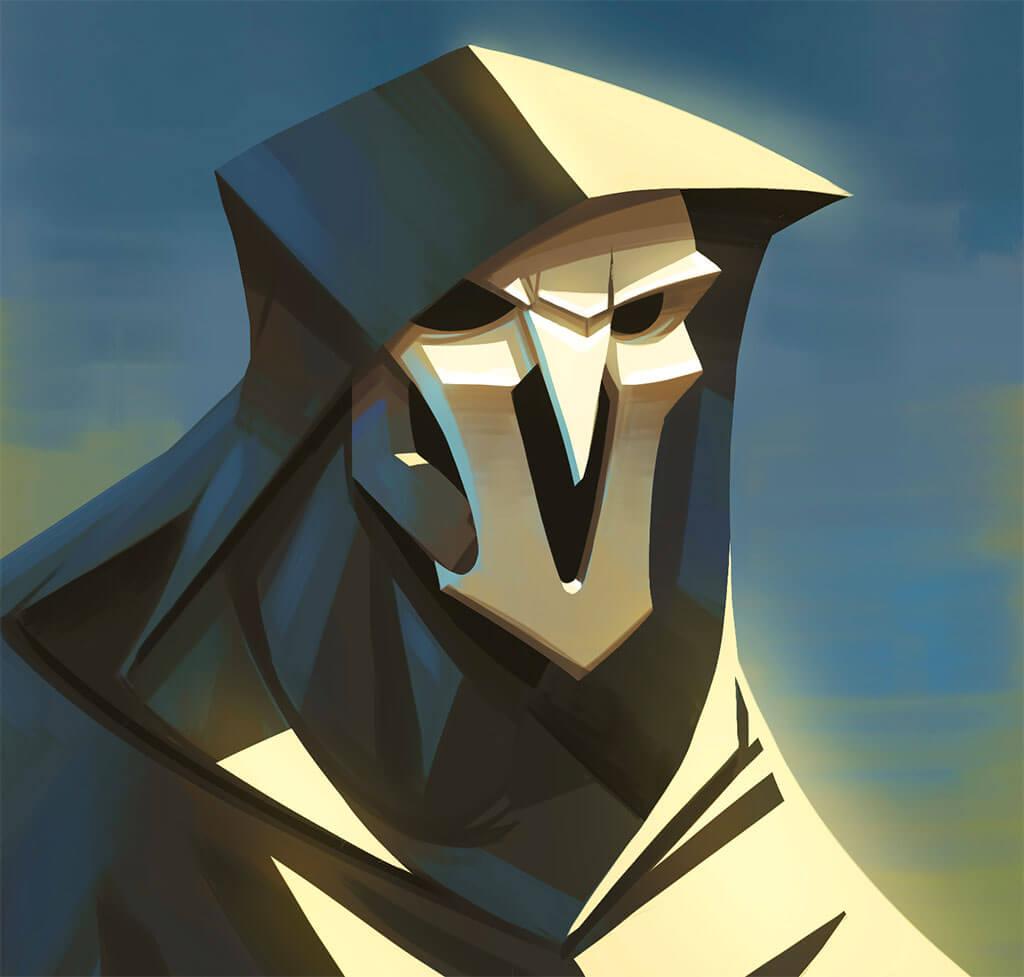 Overwatch Reaper Fan Art by Léo Chiola