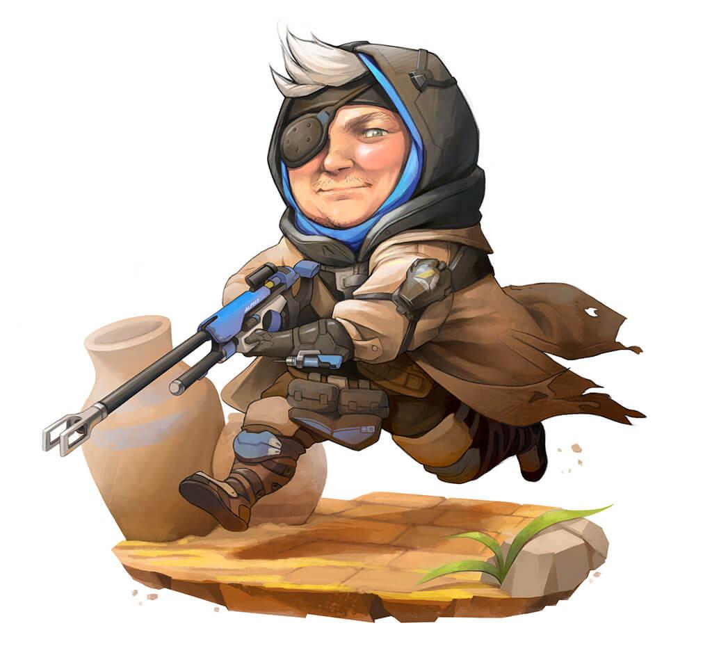 Overwatch Fan Art by Melanie Baptista