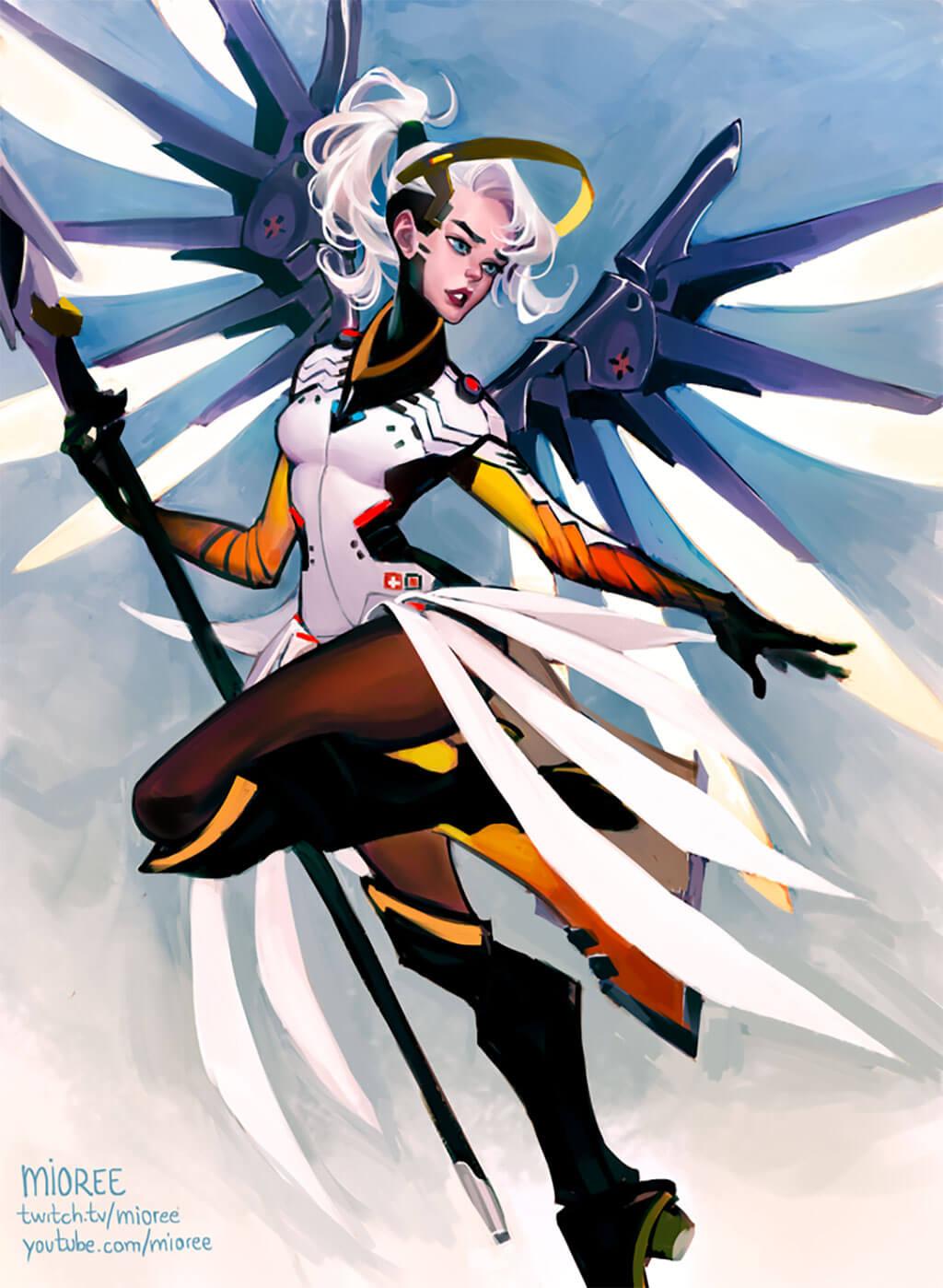 Overwatch Mercy Fan Art by Mioree