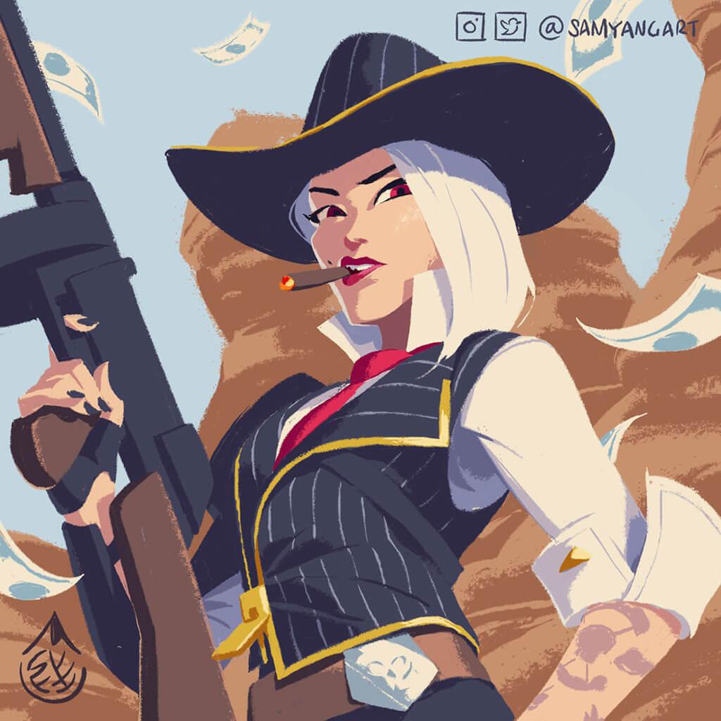 Overwatch Fan Art by Sam Yang