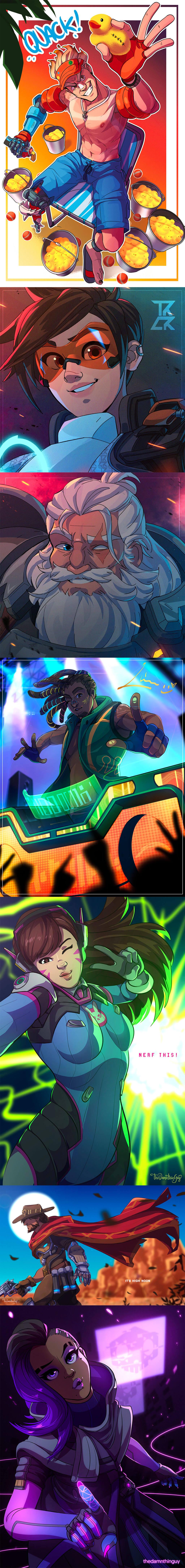 Overwatch Fan Art by Vic Regis
