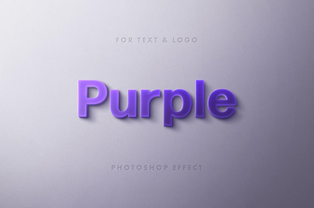 Purple Typography Logo and Text Effect