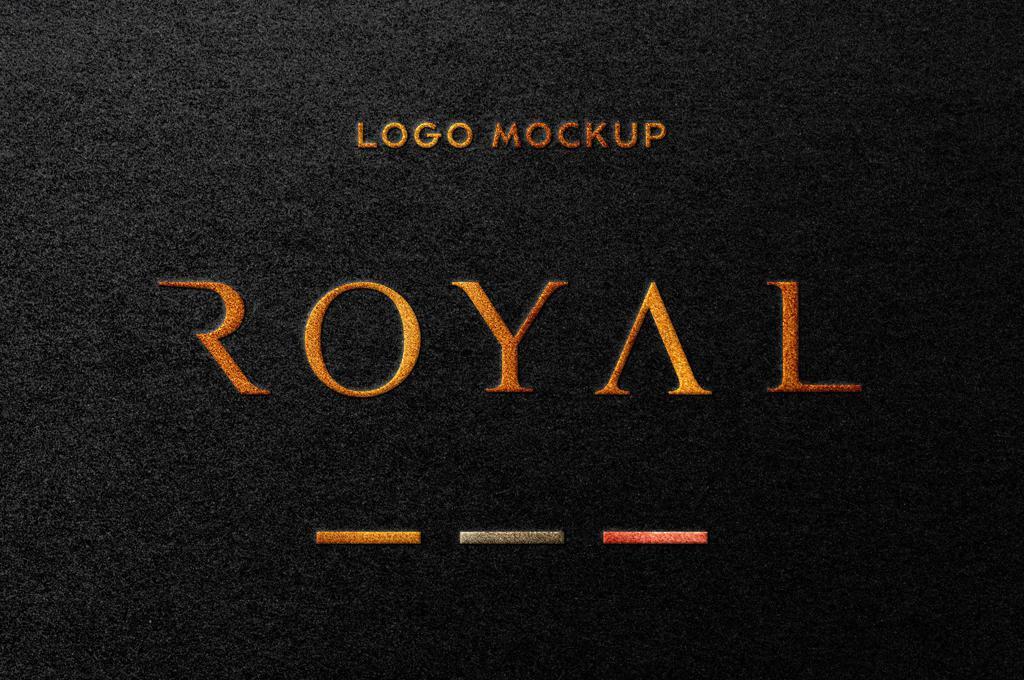 Royal: Foil Stamping Logo Mockup