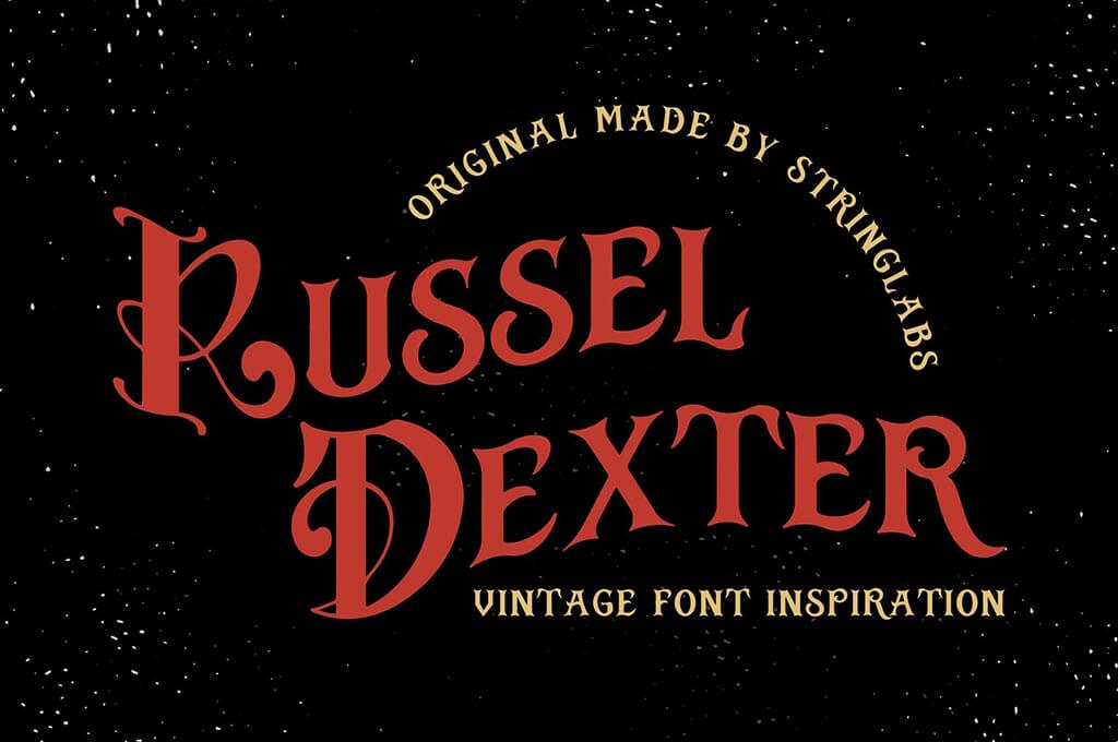 Russel Dexter — Retro Vintage Font