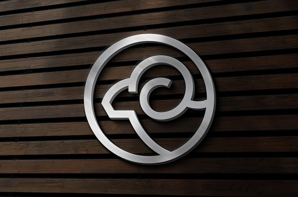 Silver Sign Logo Mockup