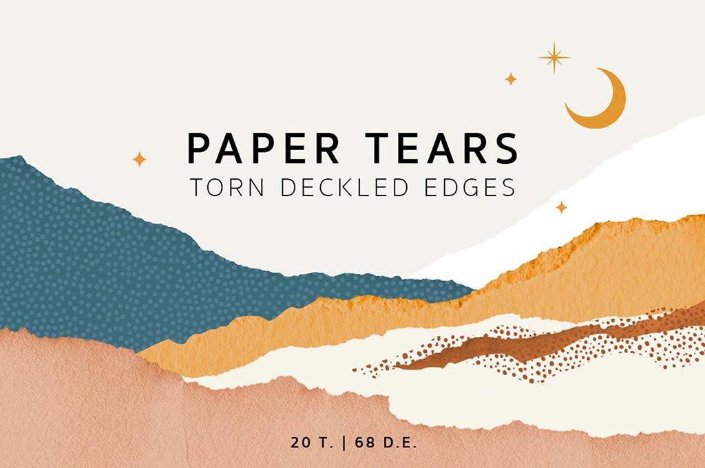 Torn Deckled Paper Edges