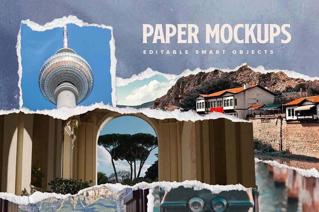 Torn Paper Mockup Templates