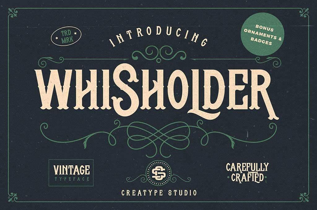 Whisholder Vintage Retro Typeface