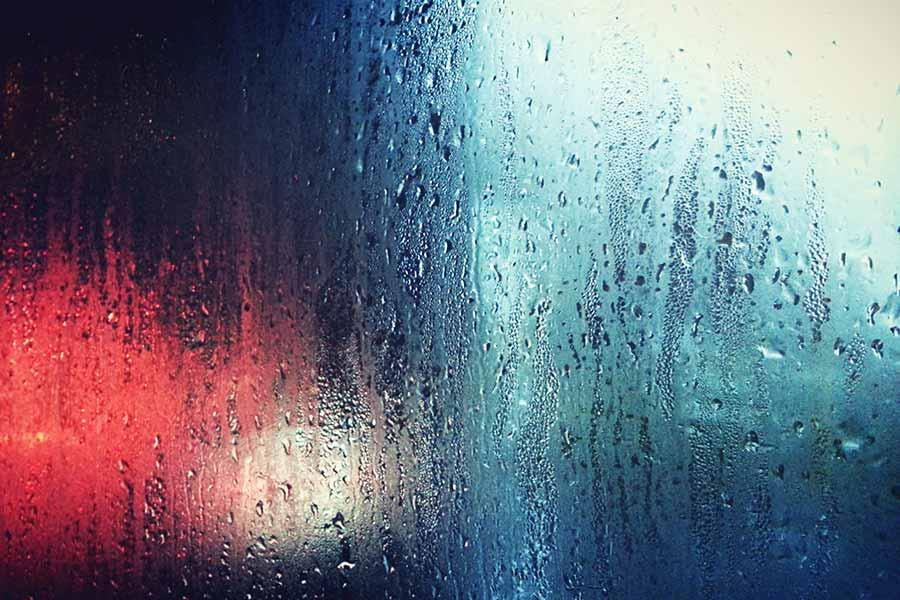 Rainy Window Glass Background