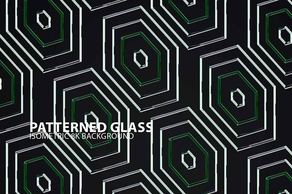 Patterned Glass Background