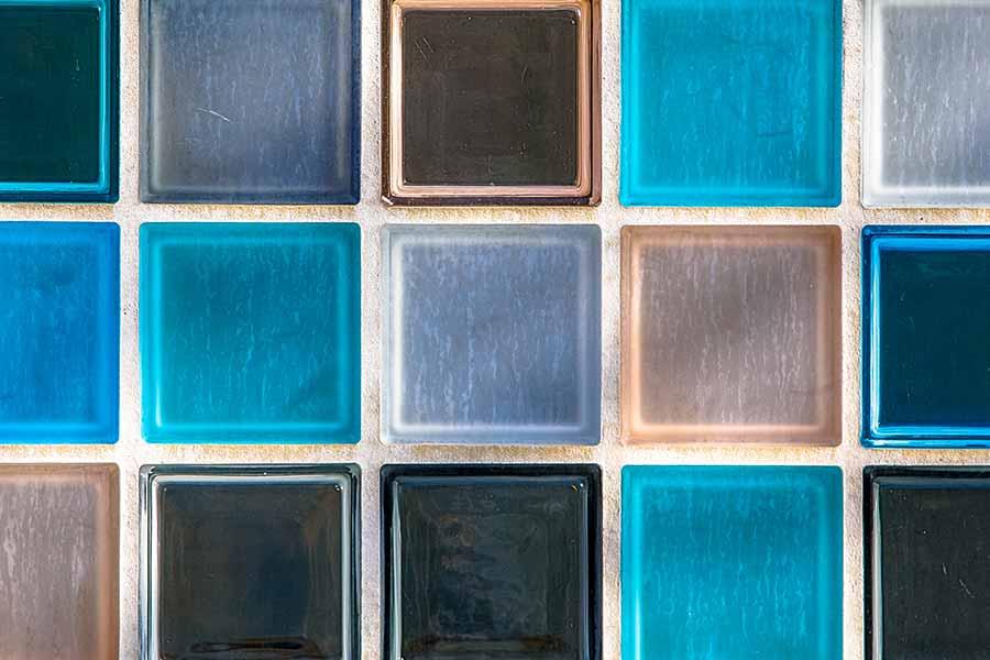 Transparent Glass Tiles Background