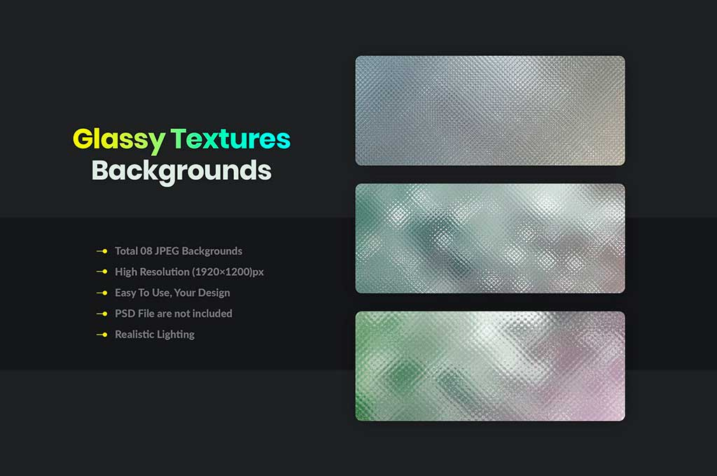 Glassy Textures and Backgrounds