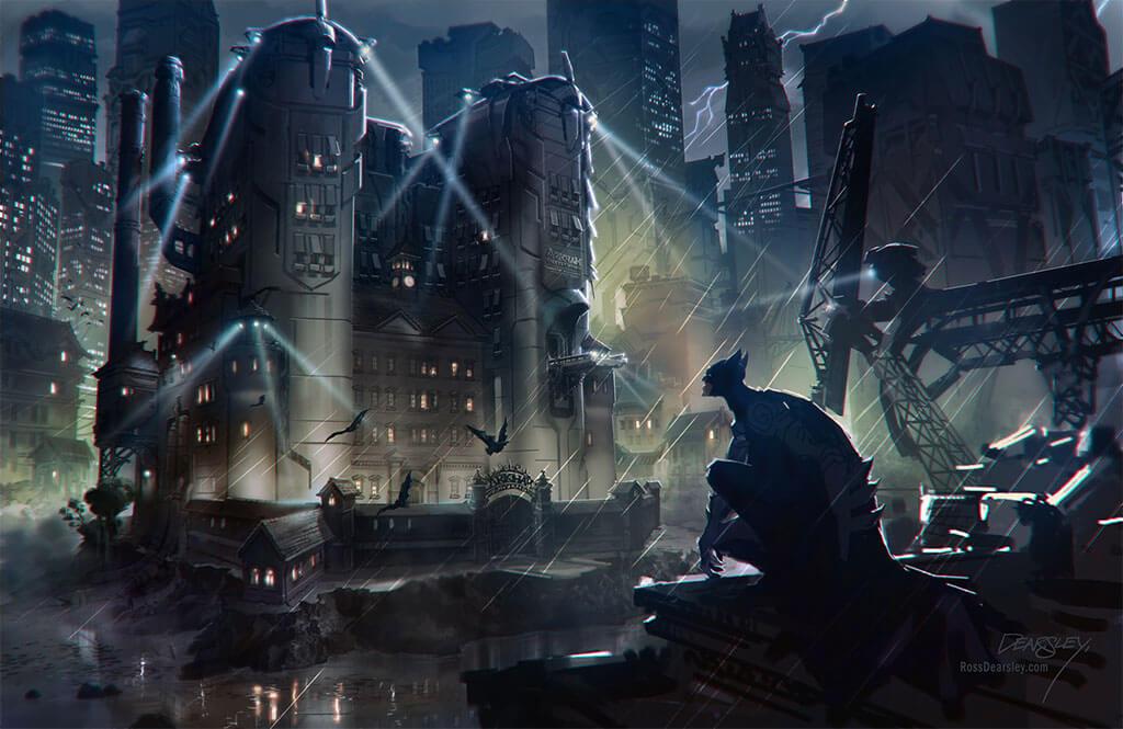 Batman Fan Art by Ross Dearsley