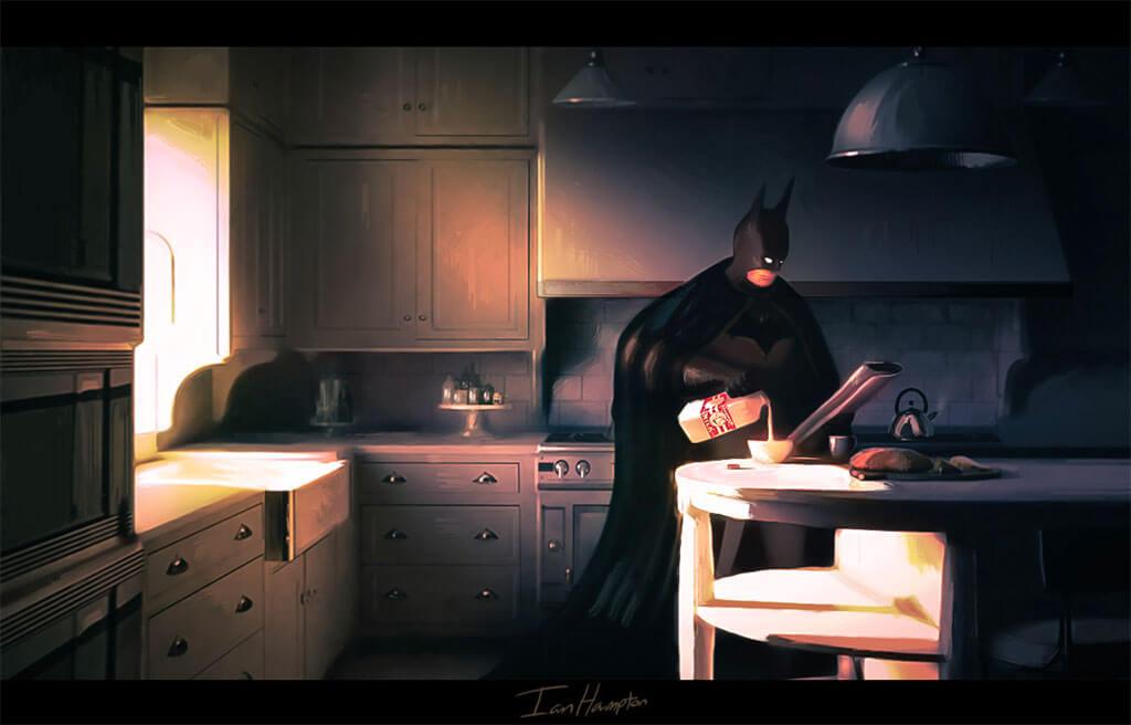 Batman Fan Art by Ian Hampton