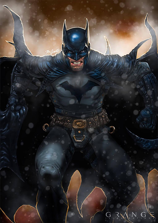 Batman Fan Art by Grange Wallis