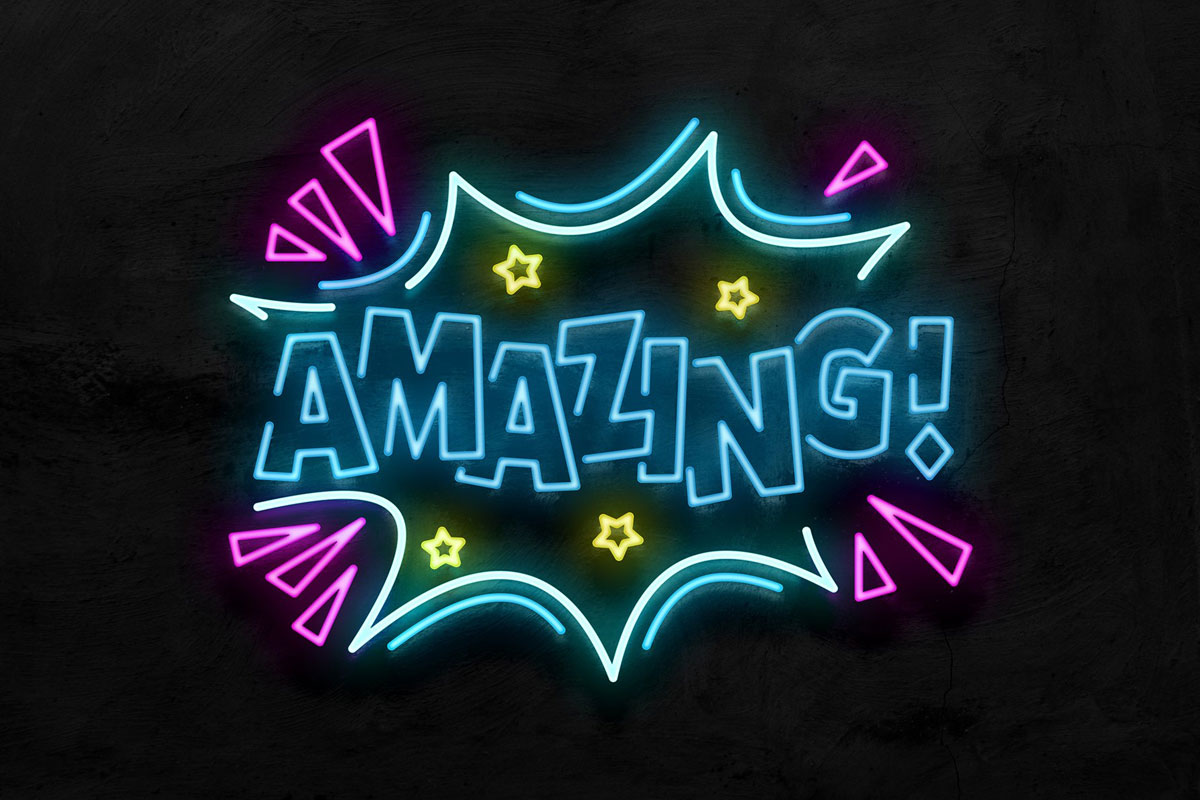 Free Neon Sign Effect
