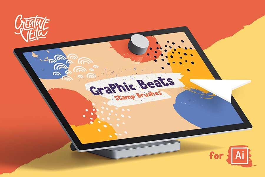 Graphic Beats Illustrator Brushes