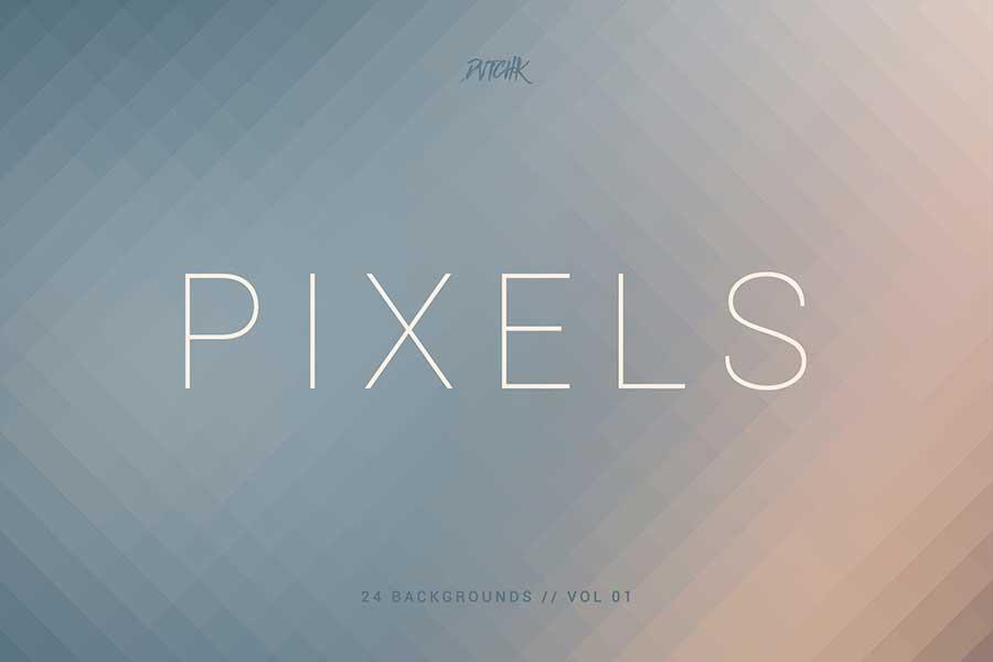 Pixels   Pixelated Backgrounds   Vol. 01