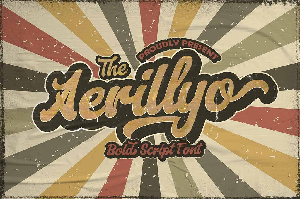 Aerillyo — Retro Bold Script Font