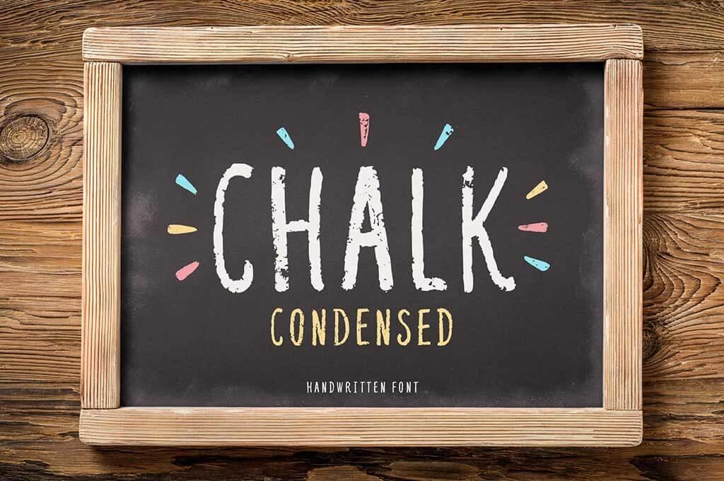 Chalk Condensed Font
