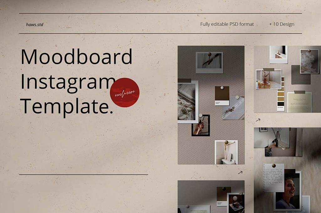 Moodboard Instagram Template
