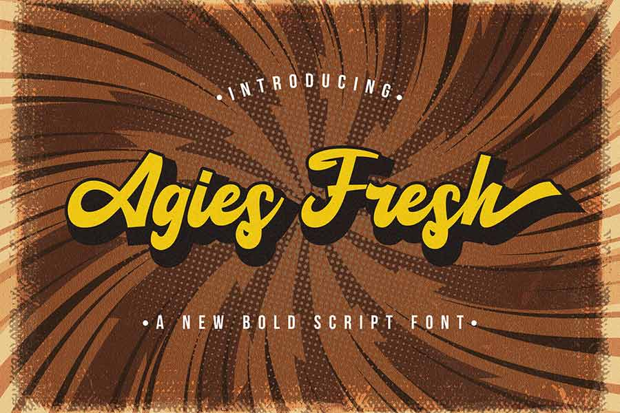 Agies Fresh — Retro Bold Script Font
