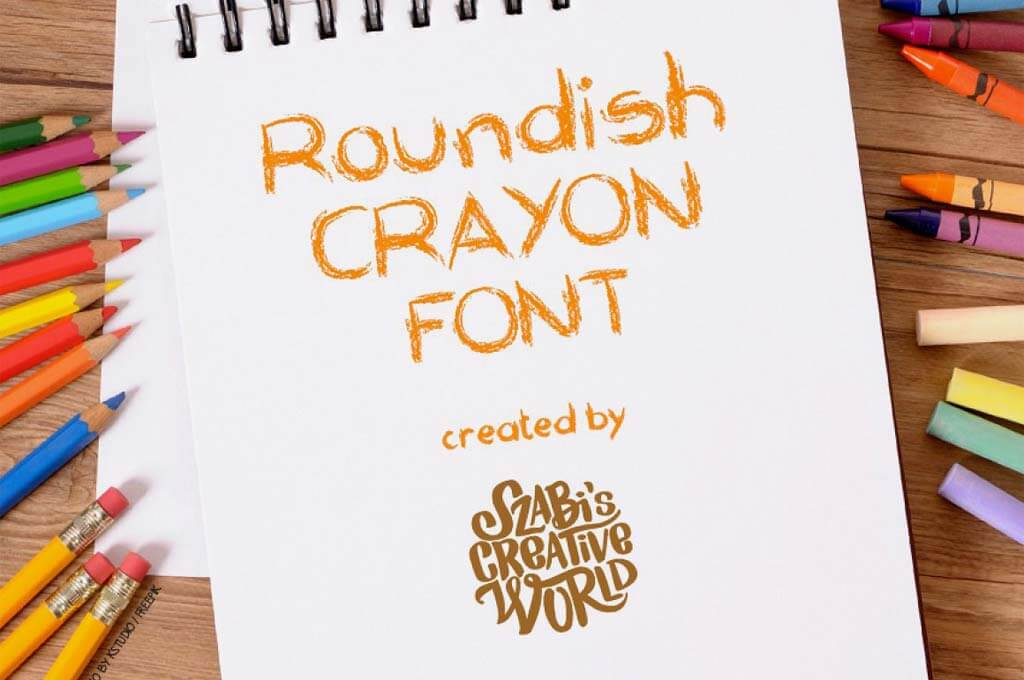 Roundish Crayon Font
