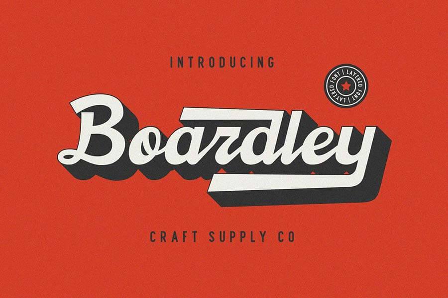 Boardley Script — Layered Font