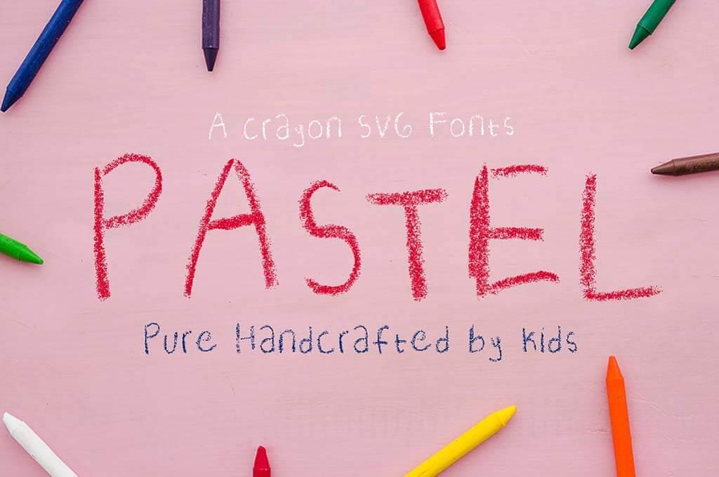 Crayon SVG fonts | Pastel
