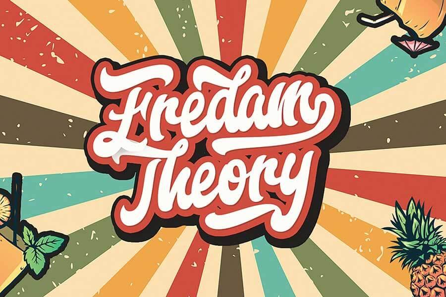 Fredam Theory — Retro Bold Script Font