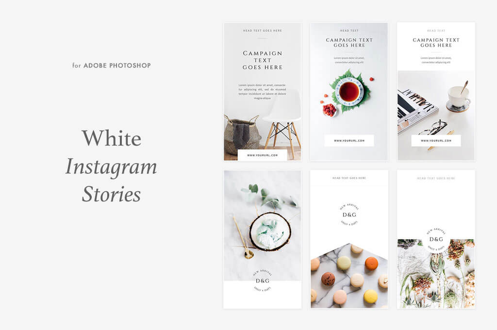 White Instagram Stories Pack