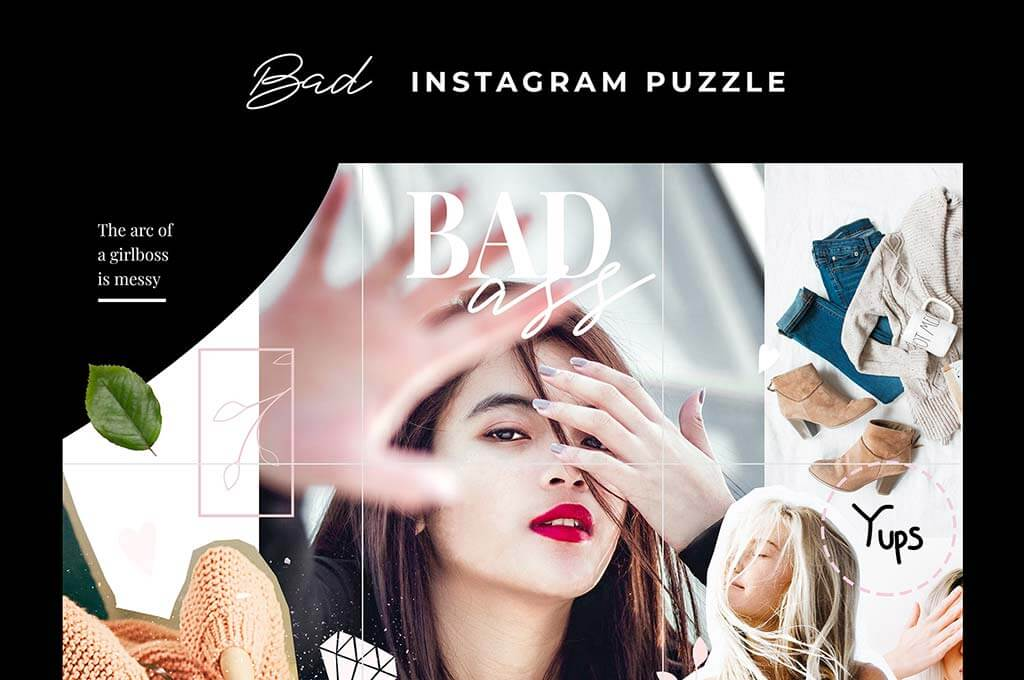 Bad Instagram Puzzle Templates
