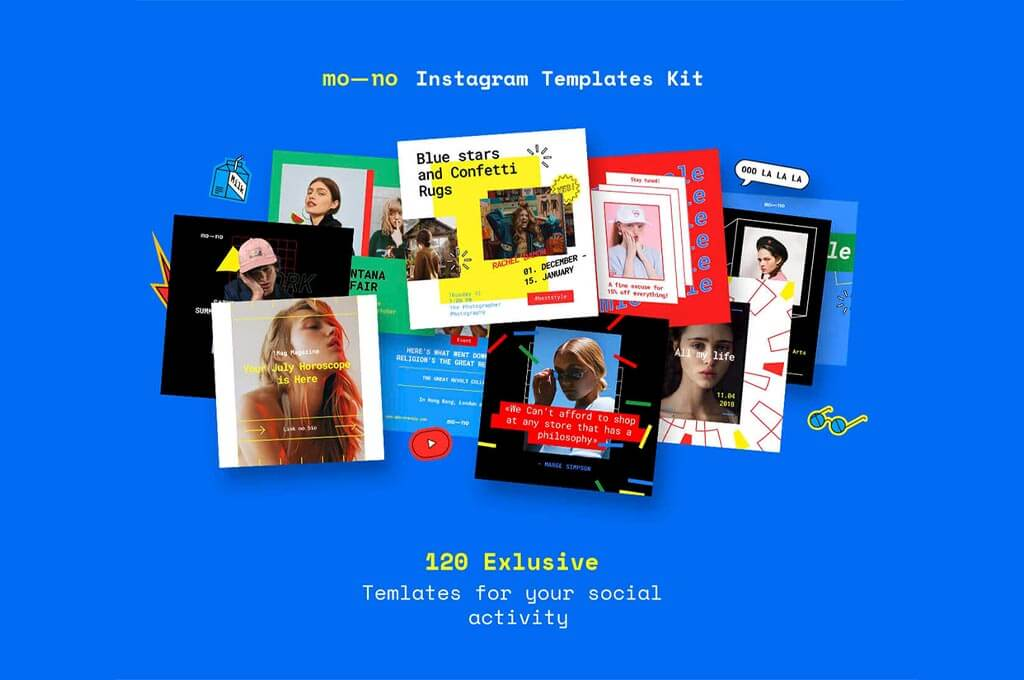 Mono Instagram Templates Kit