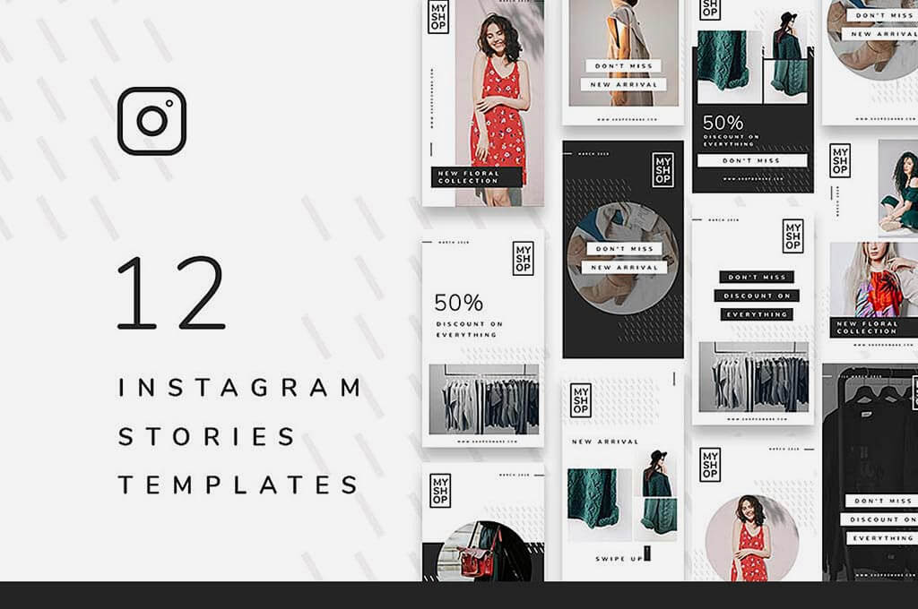 12 Shop Instagram Stories Templates