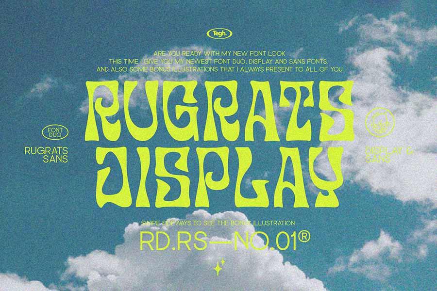 Rugrats Font Duo + Badge