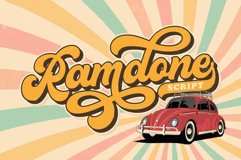 Ramdone — Retro Script