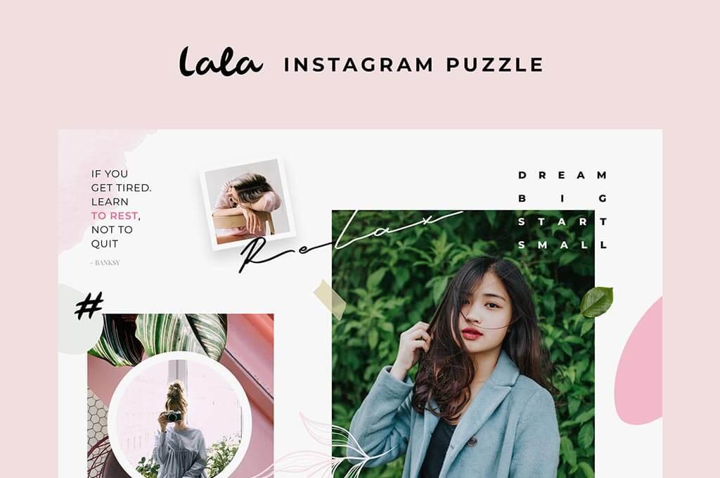 Lala Puzzle Instagram Templates