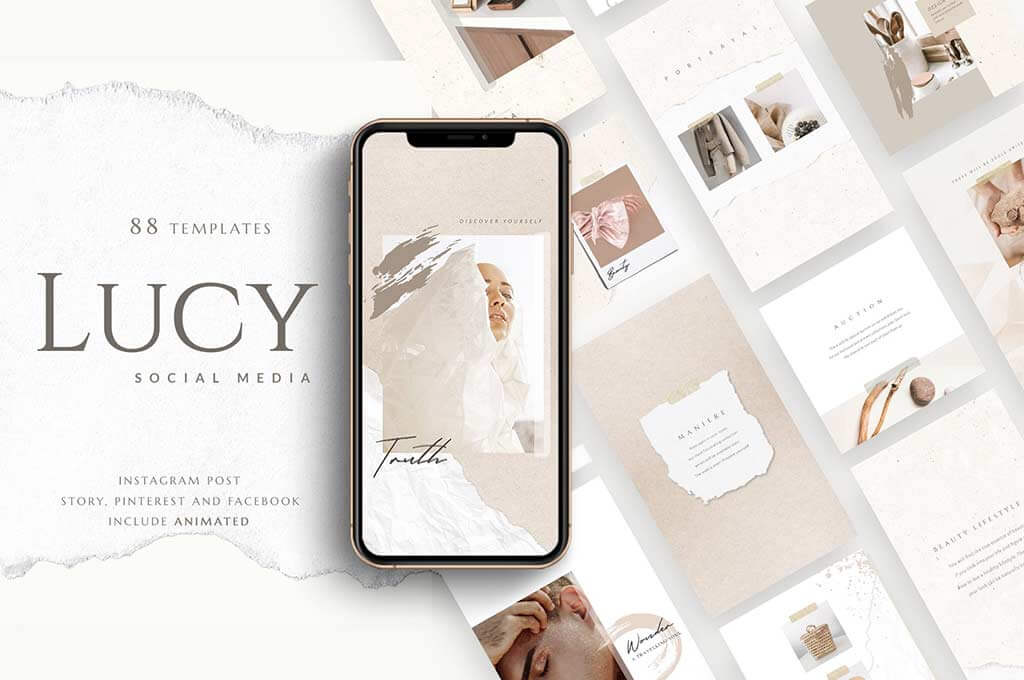 PS & Canva Lucy - Social Media Pack