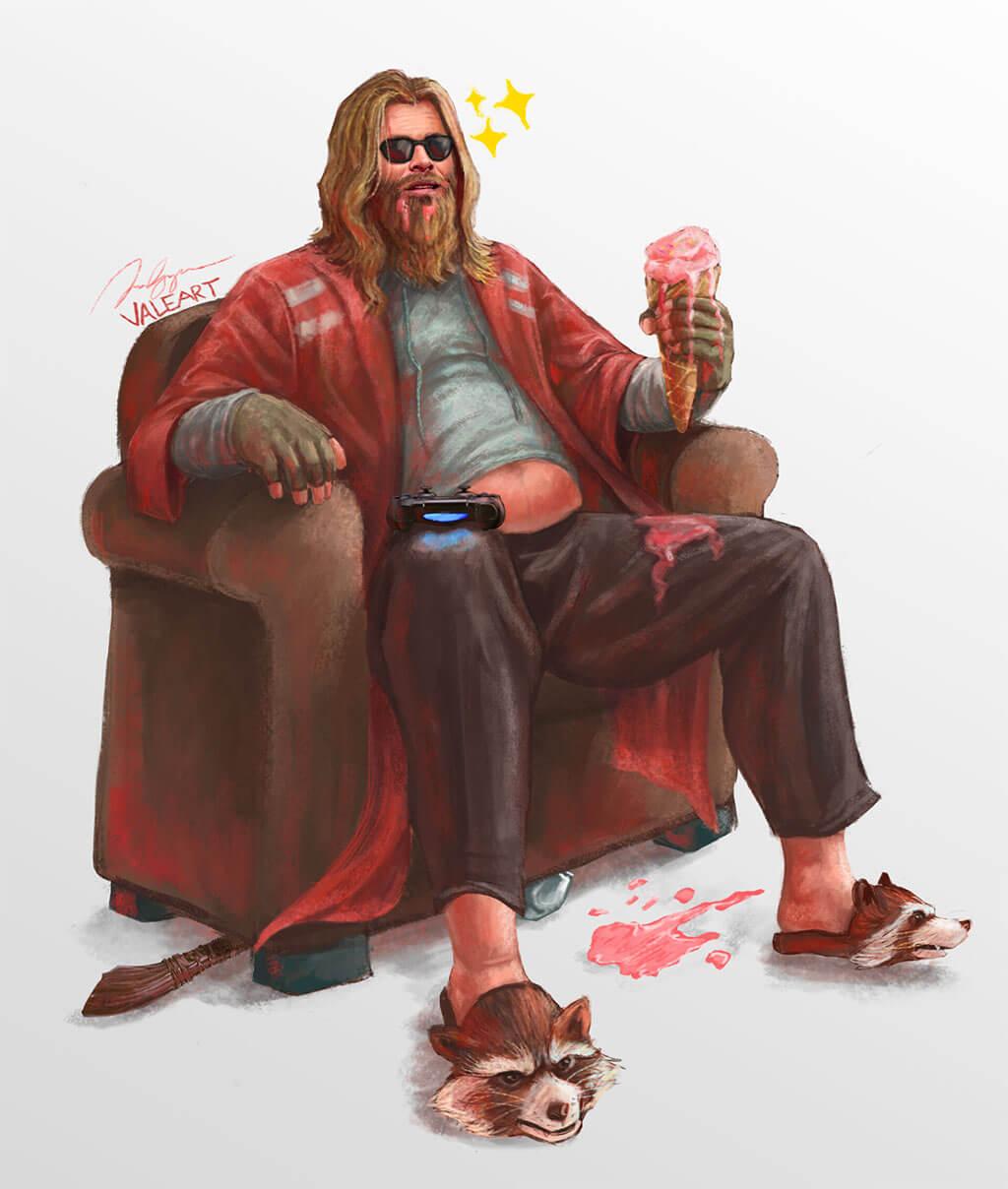 Avengers Fan Art by Kurt Maligaya